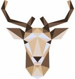 Origami veelhoekige hert sticker