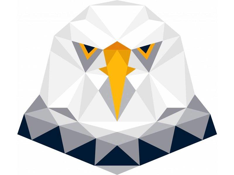 Origami veelhoekige arend sticker