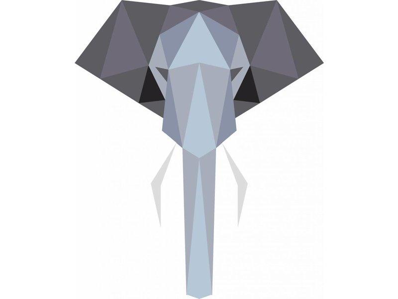 Origami veelhoekige olifant sticker