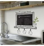 Krijtbordsticker vintage keuken