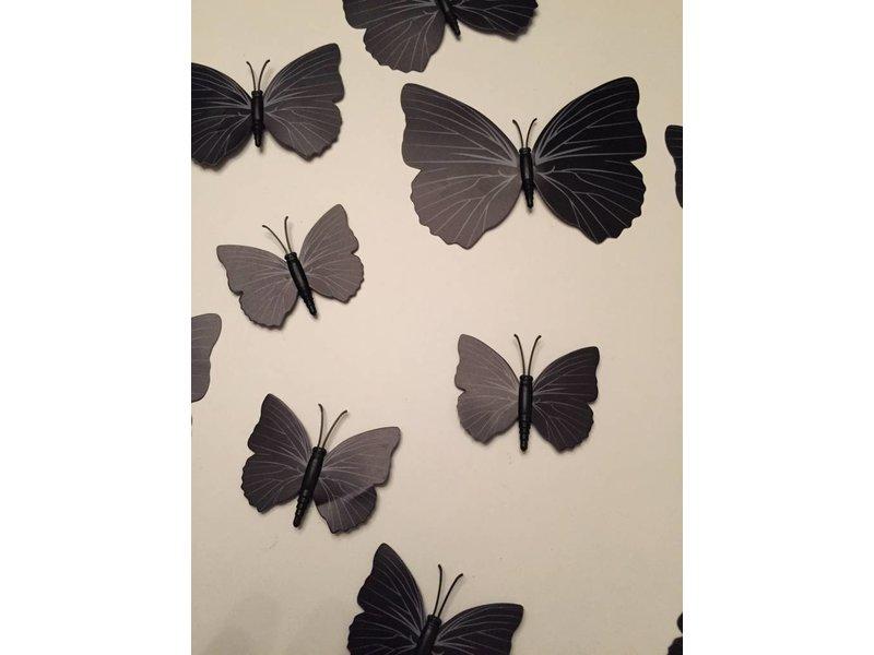 Vlinderset zwart