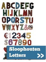 Sloophouten letters