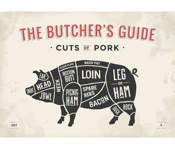 RoughMark Varken Sticker cuts of pork BBQ