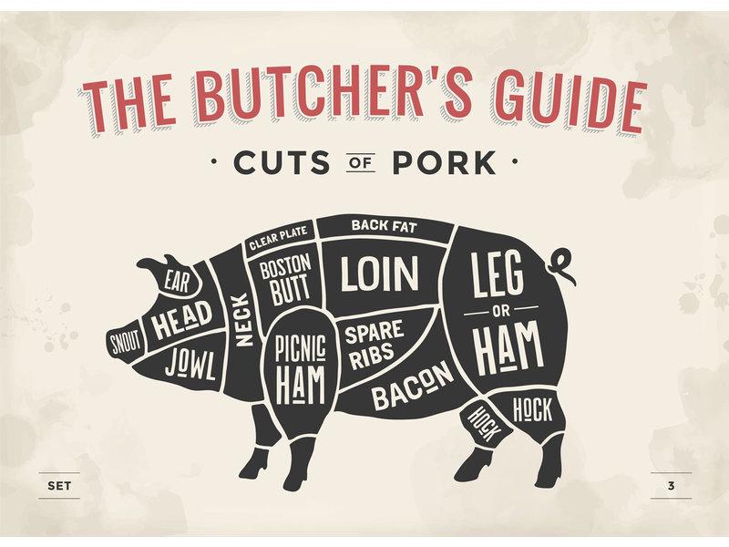 RoughMark Varken Sticker cuts of pork BBQ