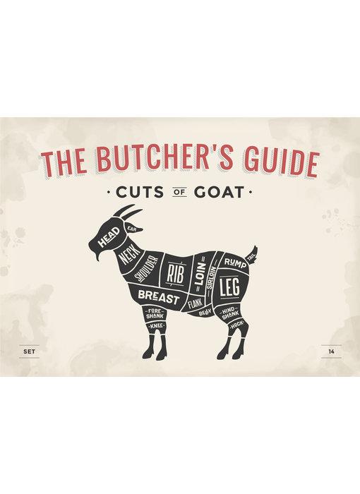 RoughMark Geit Sticker cuts of goat BBQ