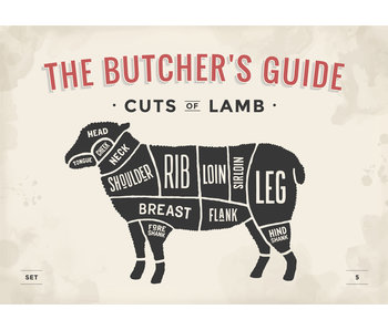 RoughMark Lam Sticker cuts of lamb BBQ