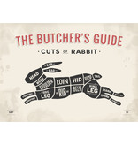 RoughMark Konijn Sticker cuts of rabbit BBQ