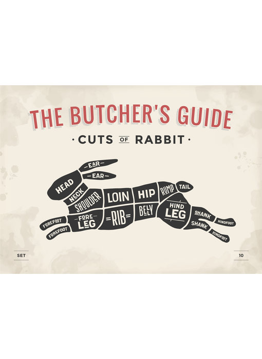 RoughMark Konijn Sticker cuts of rabbit BBQ