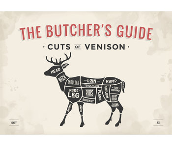 RoughMark Hert Sticker cuts of venison BBQ