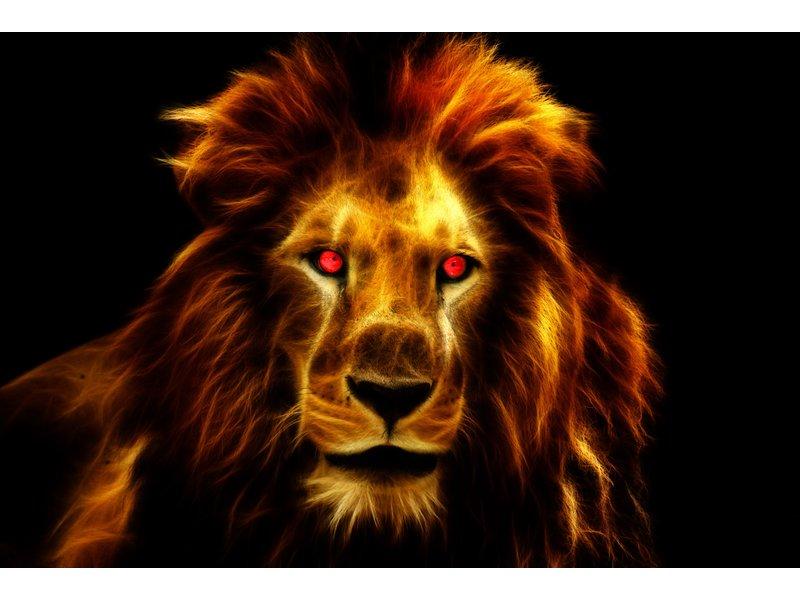 RoughMark Sticker vlam leeuw
