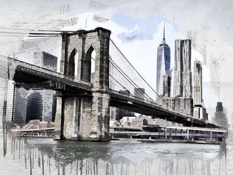 RoughMark Sticker Brooklyn Bridge