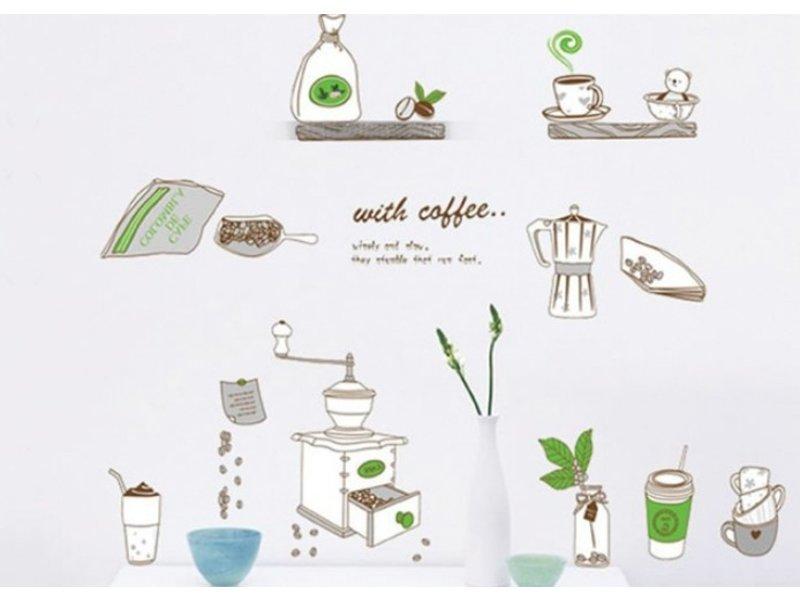 Muursticker Koffie