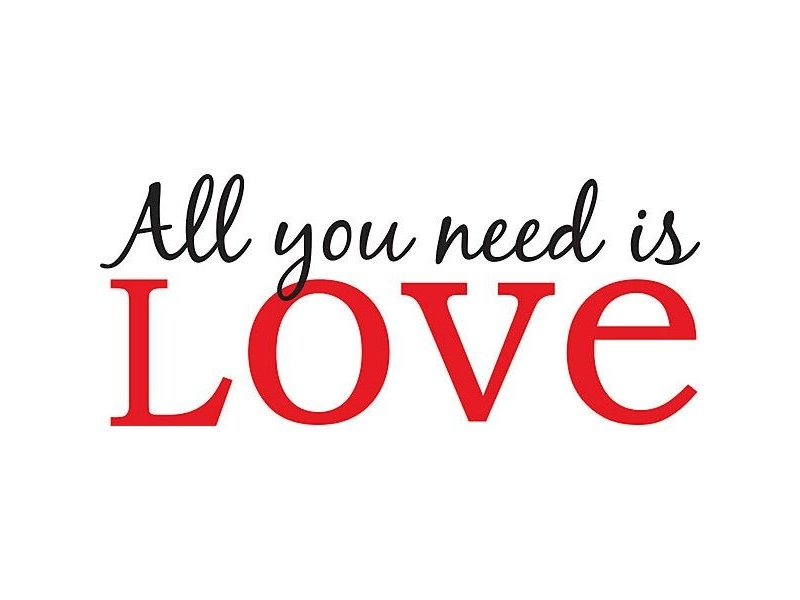 WallPops All You Need is Love sticker