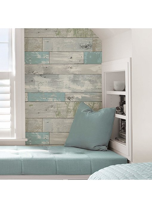 WallPops Beachwood Strandhout Peel & Stick behang