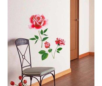 Muursticker rozen