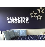 Muursticker sleeping is boring