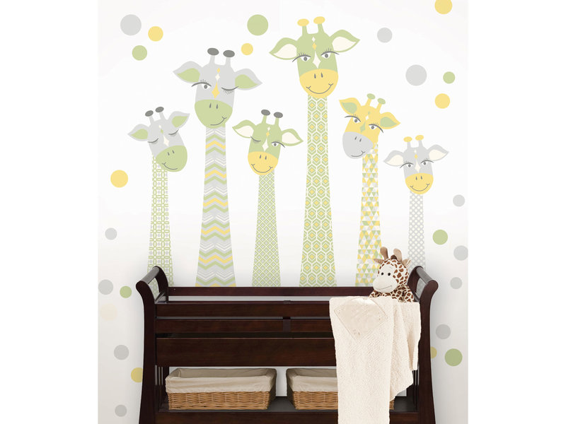 WallPops Muursticker Giraffen