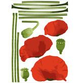 Home Stickers Sticker Bloemen Rood