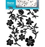 Home Stickers Sticker Bloemen Zwart