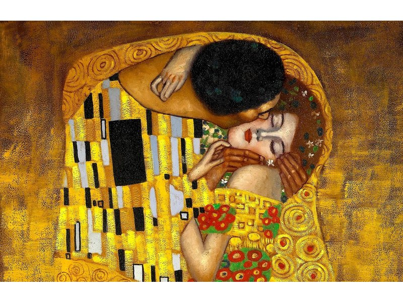 Muursticker The Kiss- Gustav Klimt