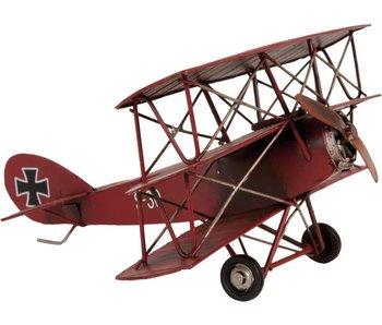 Clayre & Eef Model vliegtuig Rood