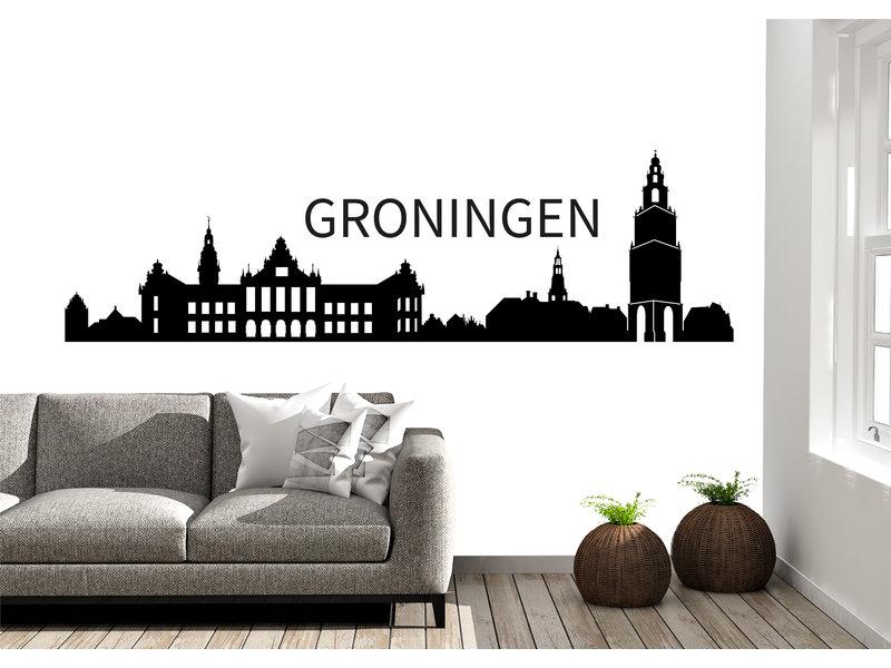 Groningen Skyline Muursticker