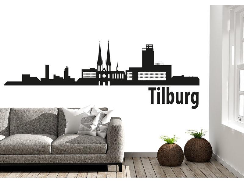 Tilburg Skyline Muursticker