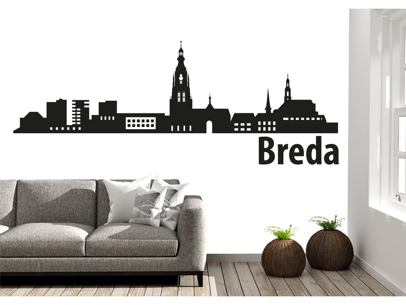 Breda Skyline Muursticker