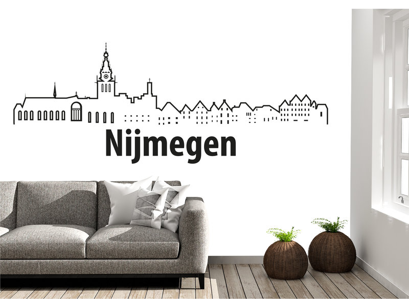 Nijmegen-skyline-muursticker 2