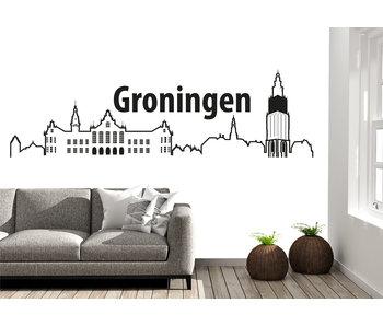 Groningen-skyline-muursticker 2