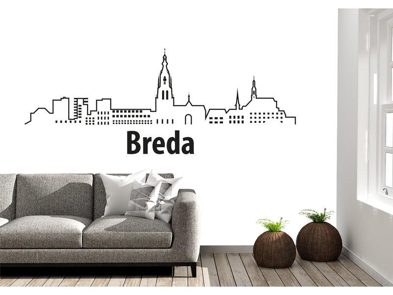 Breda-skyline-muursticker 2