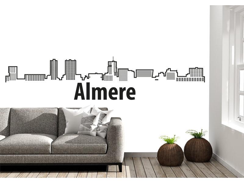 Almere-skyline-muursticker 2