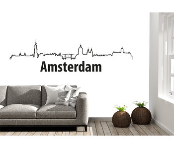 Amsterdam-skyline-muursticker 2