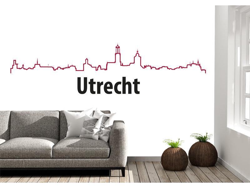 Utrecht-skyline-muursticker 2