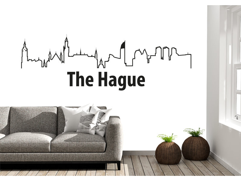 DenHaag-skyline-muursticker 2