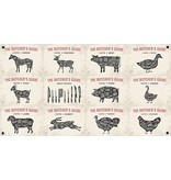 Man cave banner spandoek butchers cut beige