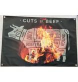 Banner  spandoek met eigen foto voor de tuin of binnen