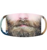 Mondmasker man met baard wasbaar 90℃