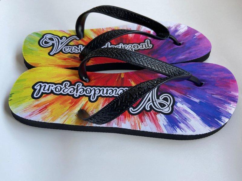 Slippers met eigen opdruk