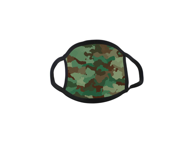Mondmasker Camouflage Groen