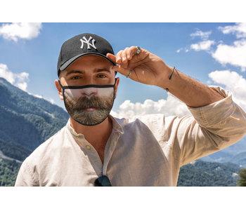 Mondmasker man met baard