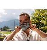 Versierendoejezo Mondmasker man met baard 2 wasbaar 90℃