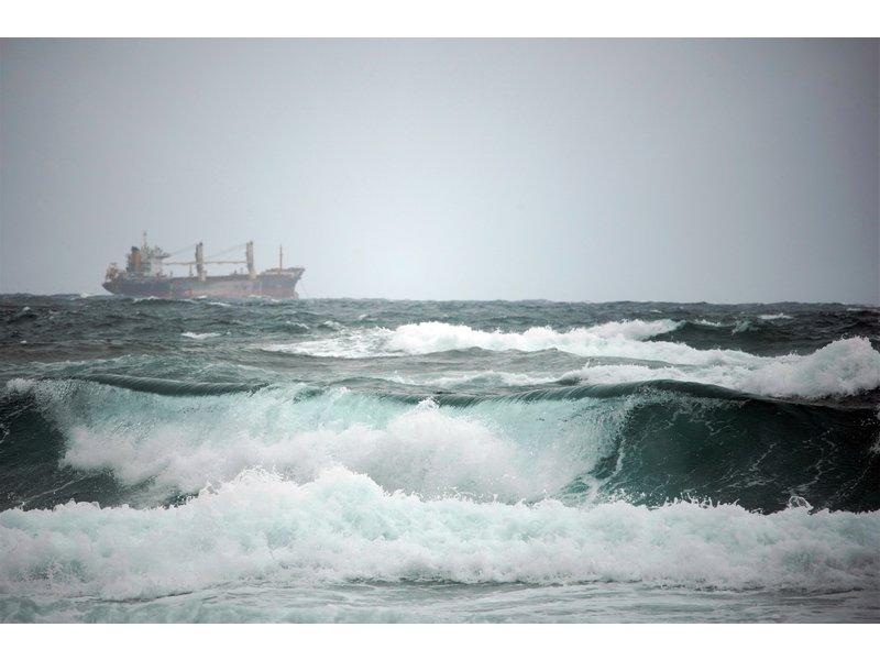 Fotobehang ruige zee
