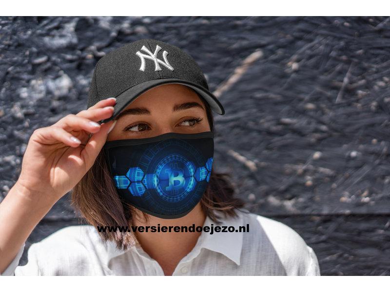 Mondmasker Bitcoin blue