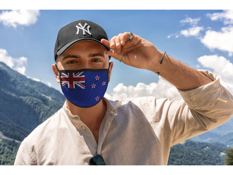 Mondmasker Vlag Nieuw Zeeland