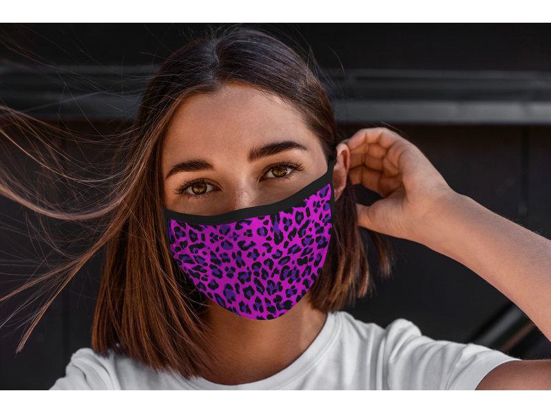 Mondmasker Panter roze paars