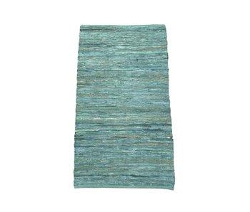 Rocaflor Kleed Gerecycled Leer Petrol/Groen 200x300cm