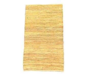 Rocaflor Vloerkleed recycled leer Oker 160x230cm