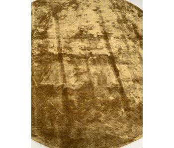 Rocaflor Vloerkleed Viscose ø 200 cm Mosterdgeel