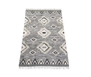 Rocaflor Vloerkleed Wol Grafisch Zwart Wit 160x230cm